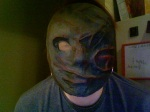 My mask, painted with panty hose eye