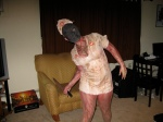 Silent Hill nurse costume before going out