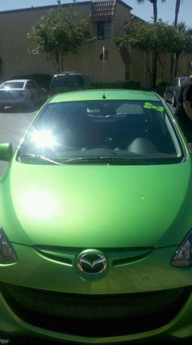Front of the Mazda 2