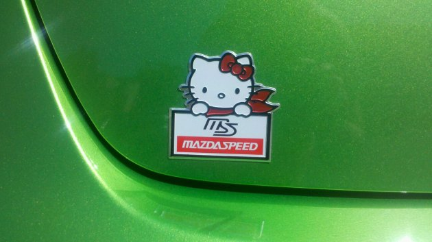 Hello Kitty Mazda Speed Badge