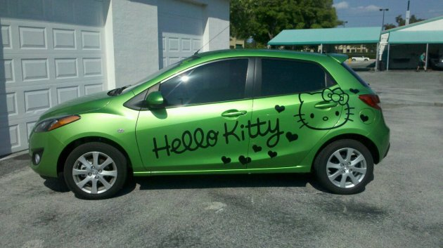 Hello Kitty Mazda 2 Car