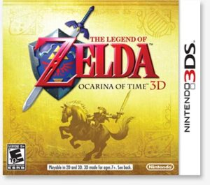 Legend of Zelda: Ocarina of Time 3D Box art