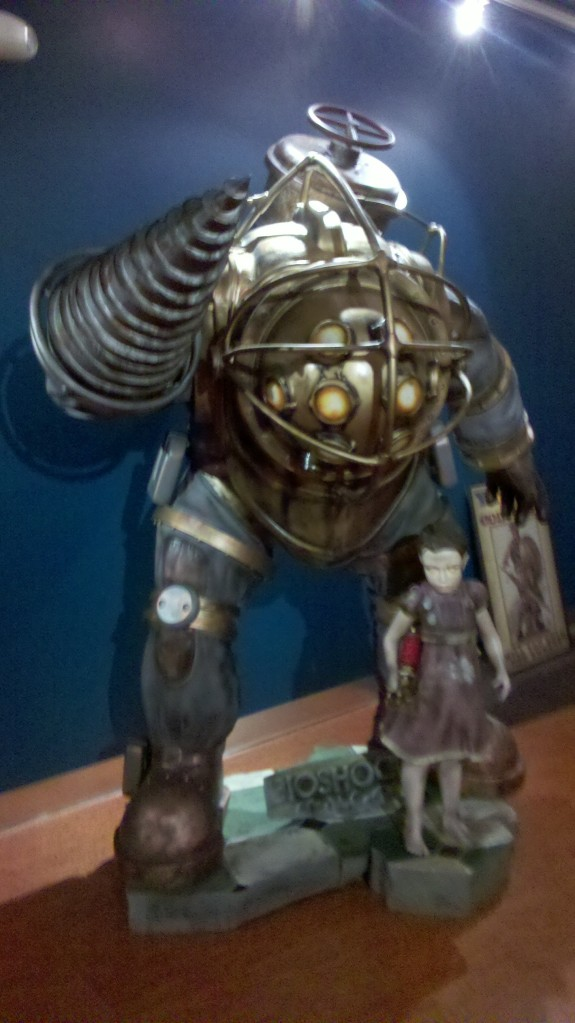 The lifesized Big Daddy at the Irrational Games Lobby