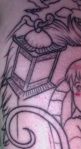 The Hopping Lantern from Spirited Away Tattoo Close Up
