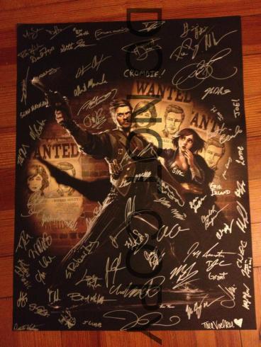 Signed Bioshock Infinite Poster